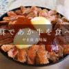 阿蘇ツーリングで「あか牛丼」を食べる – やま康 攻略編 –
